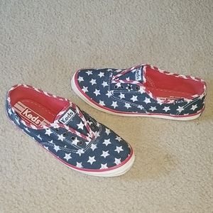 Cute red white & blue keds!